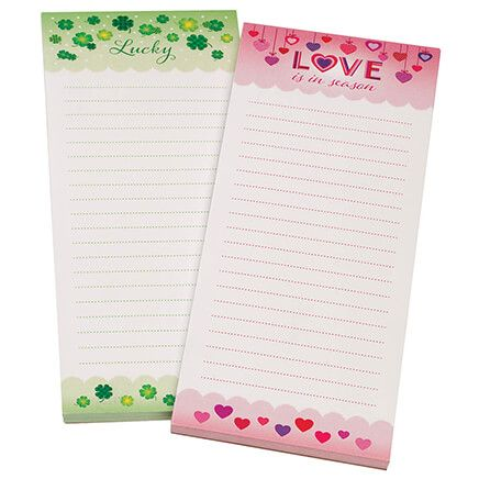 Hearts & Shamrocks Note Pads, Set of 2-370913