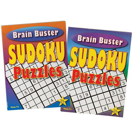 Brain Buster Sudoku Puzzle Books, Set of 2-370946