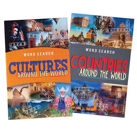 Around the World Word Search Puzzles, Set of 2-371057