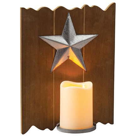 Barn Star LED Candle Wall Sconce-371058