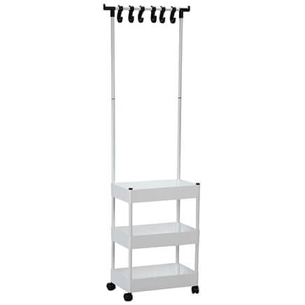 3-Tier Rolling Closet Organizer with Clothes Hanger-371068