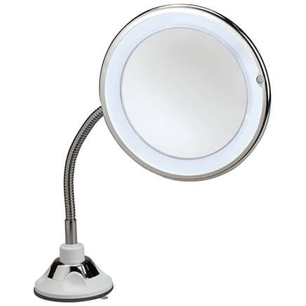 Flexible Suction Cup LED 10X Mirror with 360° Rotation-371083