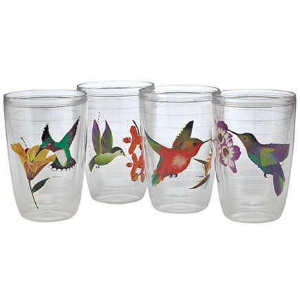Insulated Hummingbird Tumblers, Set of 4-371116