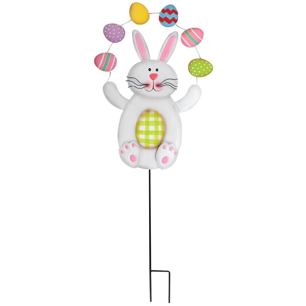 Juggling Easter Bunny Metal Stake by Fox River™ Creations-371180