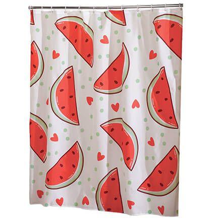 Watermelon Cloth Shower Curtain-371205