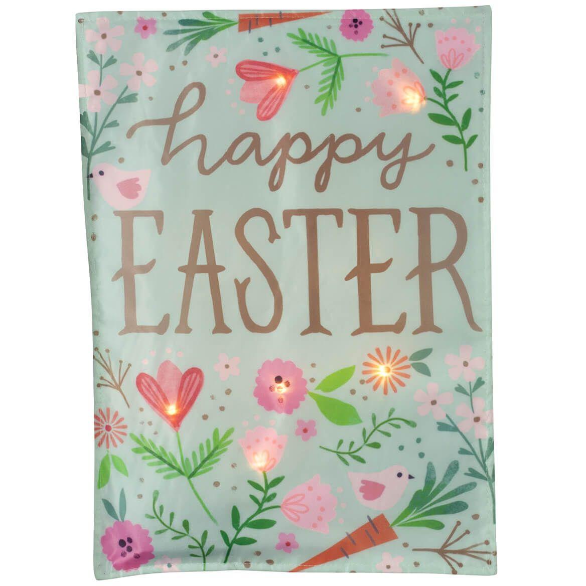Happy Easter Lighted Garden Flag-371216