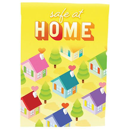 Safe at Home Garden Flag-371227