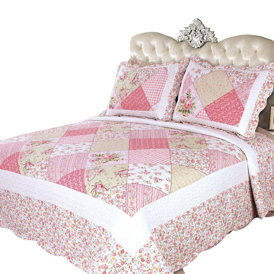Emily's Rose 3 Pc Quilt Set-371237