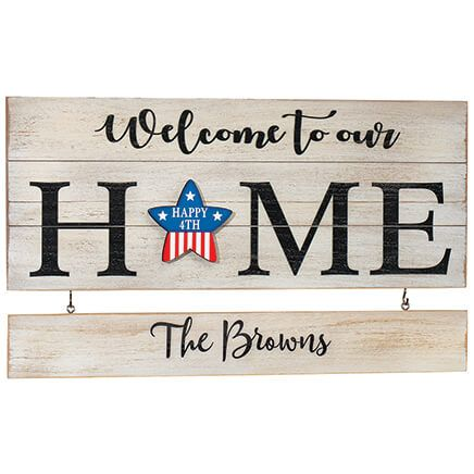 "Personalized ""Welcome to our Home"" Holiday Plaque-371319"