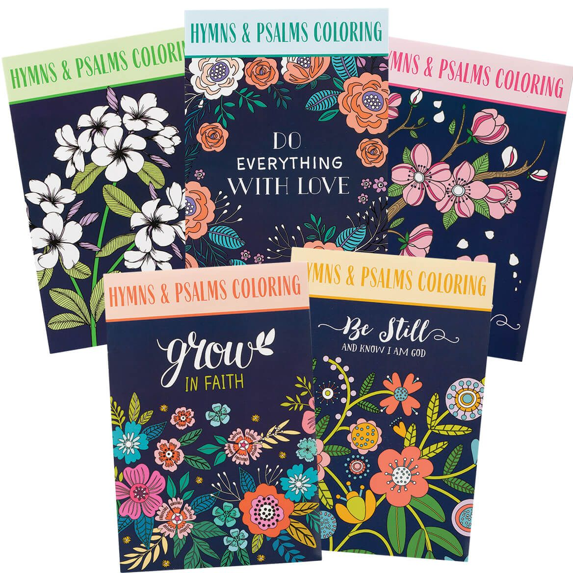 Hymns & Psalms Coloring Books, Set of 5-371345