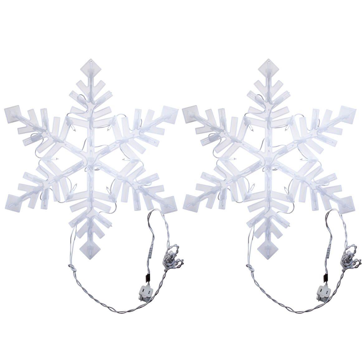 Lighted Snowflake, Set of 2-371414