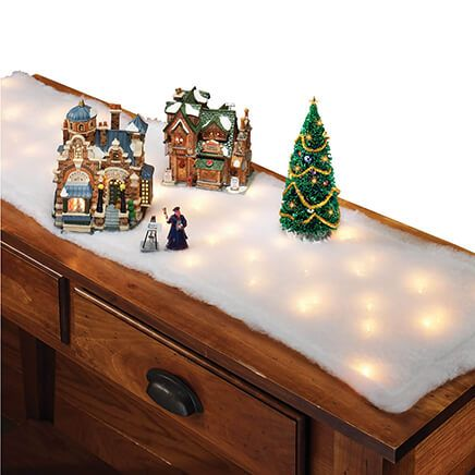Lighted Snow Table Runners, Set of 2-371417