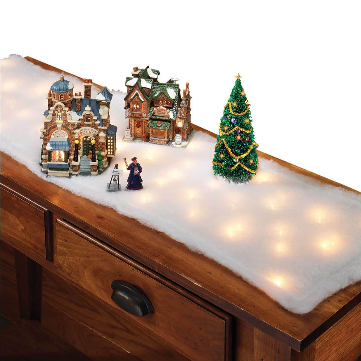 Lighted Snow Table Runner, Set of 2-371417