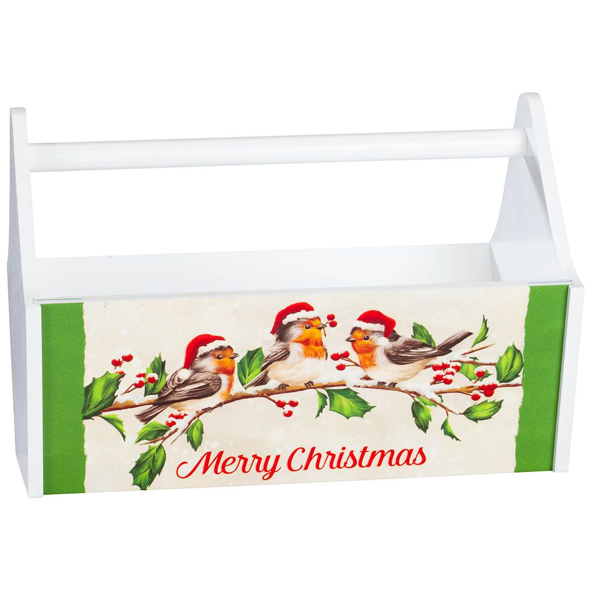 Merry Christmas Bird with Hats Trough Caddy-371420