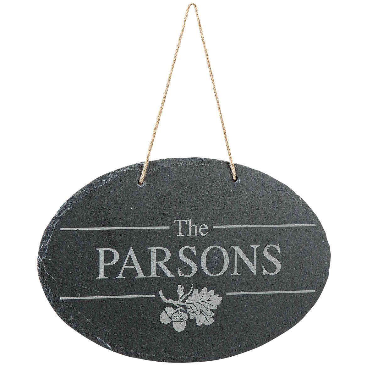 Personalized Oak Leaf Slate Plaque-371489