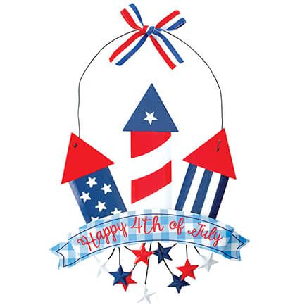 """""""Happy 4th of July"""" Fireworks Hanging by Fox River™ Creations-371537"""
