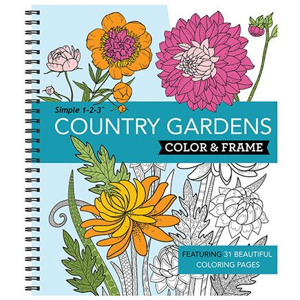 Simple 1-2-3™ Country Gardens Color & Frame Book-371542