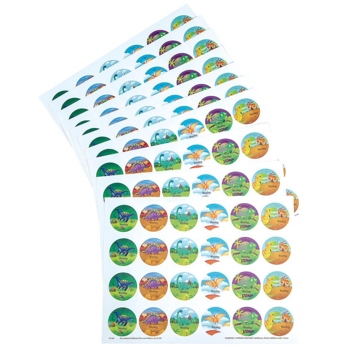 Personalized Children's Dinosaur Stickers, Set of 240-371561