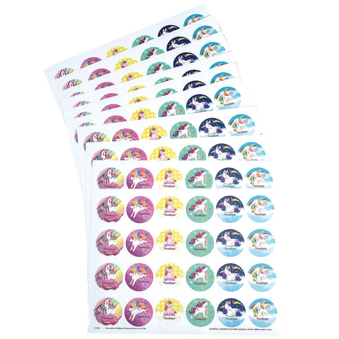 Personalized Children's Unicorn Stickers, Set of 240-371562