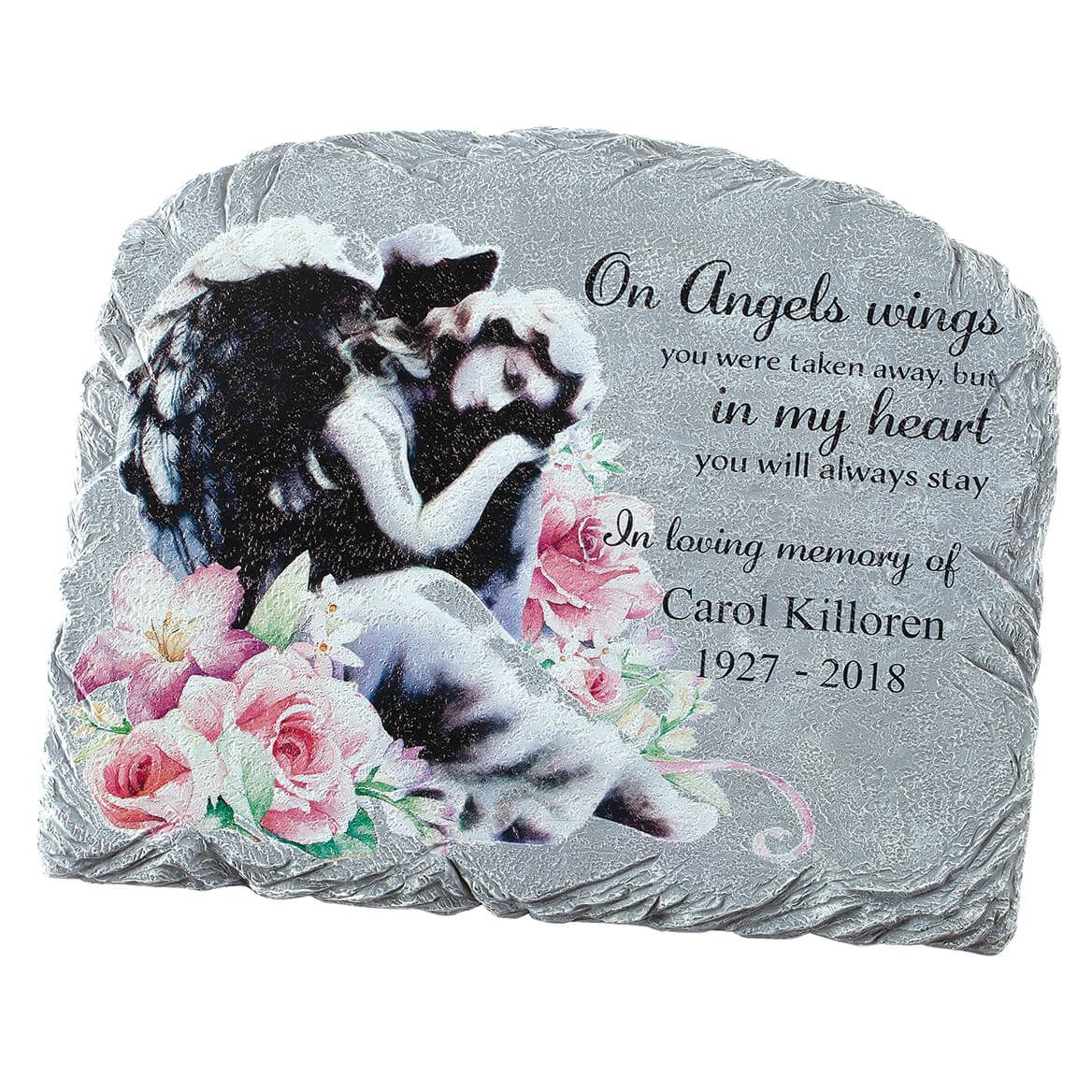 Personalized Floral Angel Garden Stone-371657