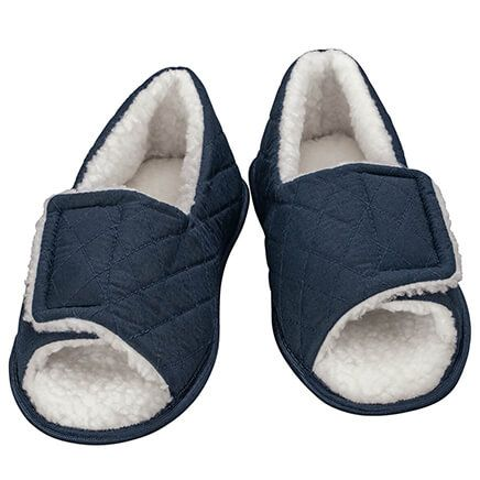 Silver Steps™ Open Toe Edema Slippers Mens-371669