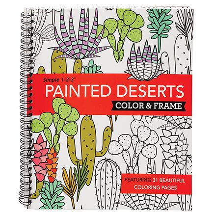 Simple 1-2-3™ Painted Deserts Color & Frame Book-371704