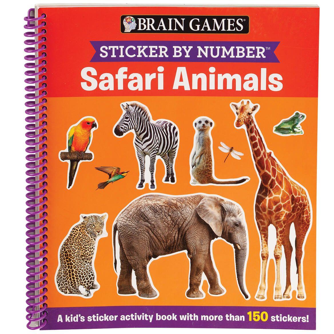 Brain Games® Sticker By Number ™ Safari Animals-371722