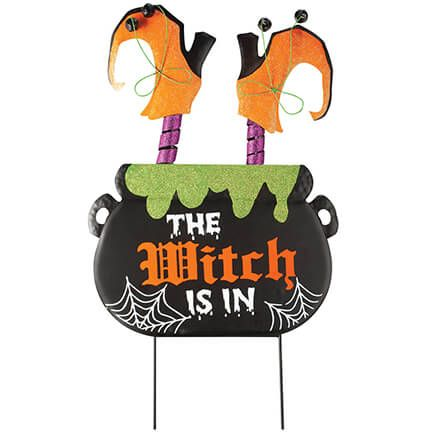 """""""The Witch Is In"""" Metal Stake by Fox River™ Creations-371725"""