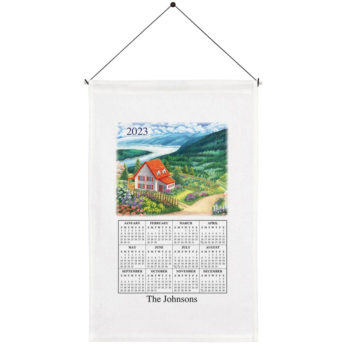 Personalized Country Cottage Calendar Towel-371778