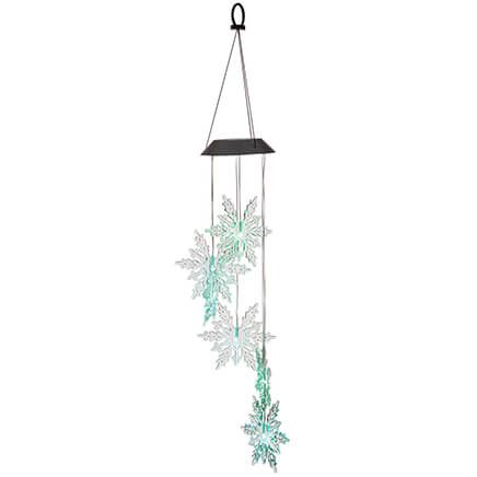 Color Changing Solar Snowflake Mobile-371805