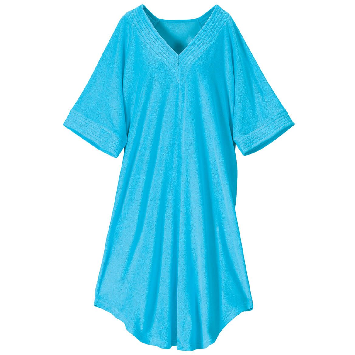 V-Neck Turquoise Terry Caftan by Sawyer Creek™-371867