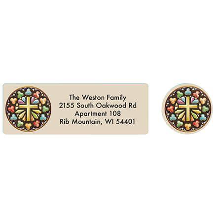Die Cut Chapel Address labels and seals-371876