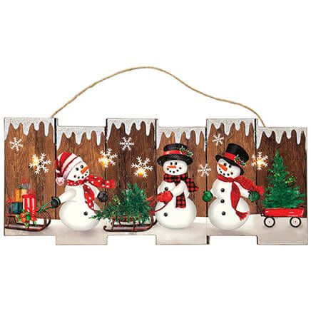 Lighted Snowman Wall Hanging by Holiday Peak™-371908