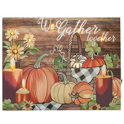 We Gather Together Lighted Canvas by Holiday Peak™-371973
