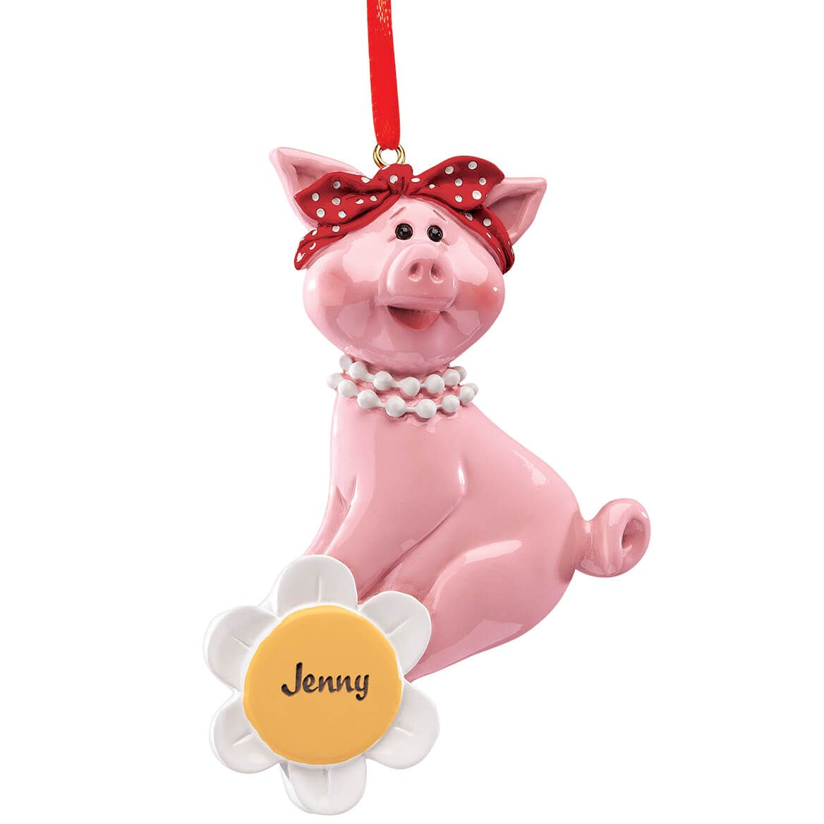 Personalized Daisy Pig Ornament-372231