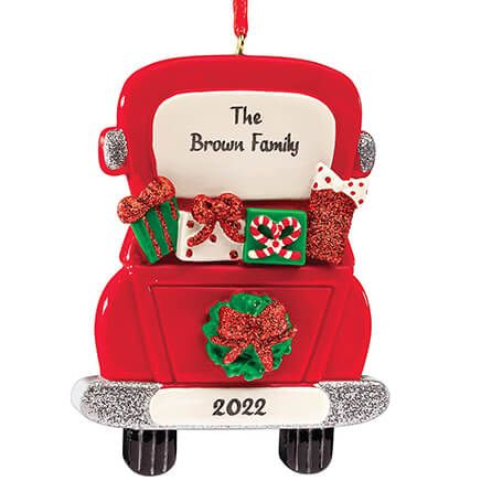 Personalized Christmas Truck Ornament-372235