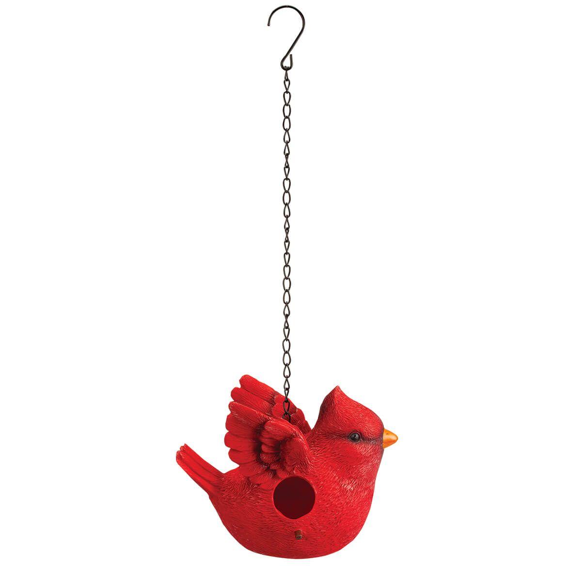 Resin Cardinal Shaped Birdhouse-372286