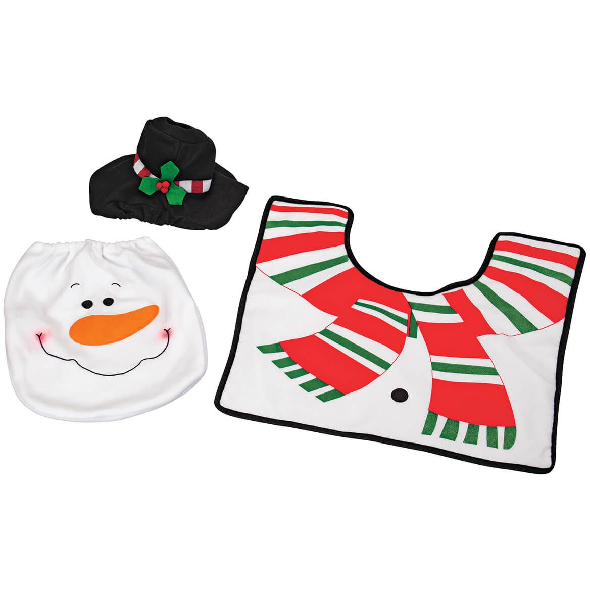Snowman Toilet Cover and Rug, Set of 3-372336