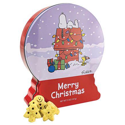 Peanuts Snowglobe Cookie Tin, 5oz. (Assorted Designs)-372400