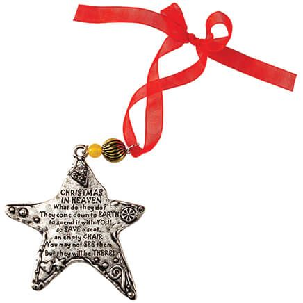Pewter Christmas in Heaven Ornament-372417