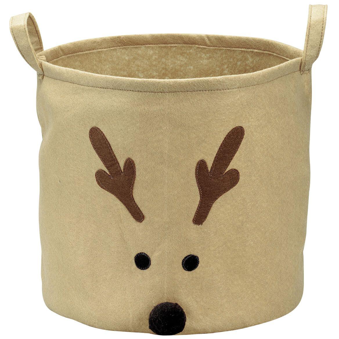 Reindeer Holiday Storage Bin by Holiday Peak™-372555