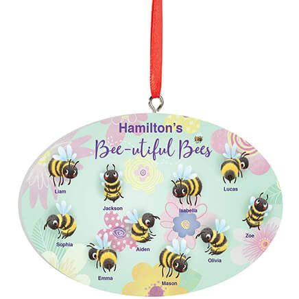 Personalized Beautiful Bees Ornament-372596