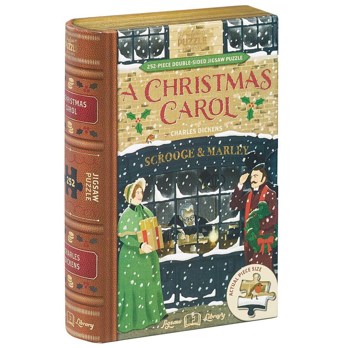 "Jigsaw Library ""A Christmas Carol"" 2-Sided Puzzle-372659"
