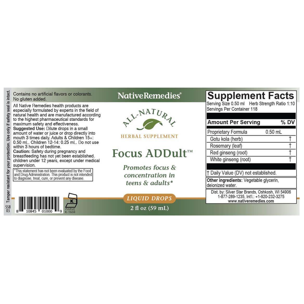 Focus ADDult™ for Mental Clarity-346771