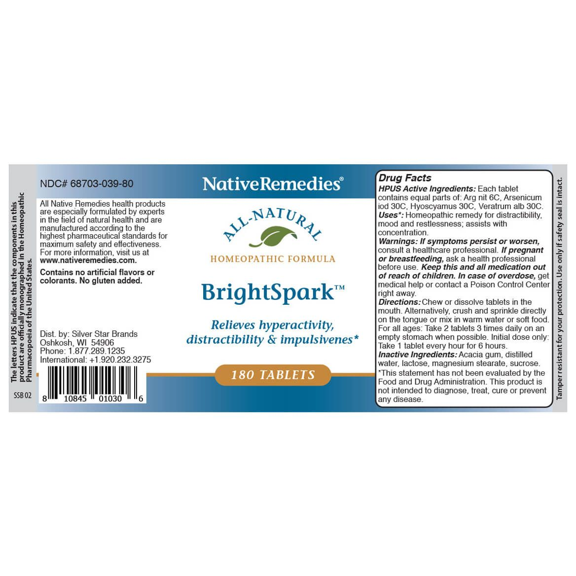 BrightSpark™ Tablets for Attention Problems & Hyperactivity-351827