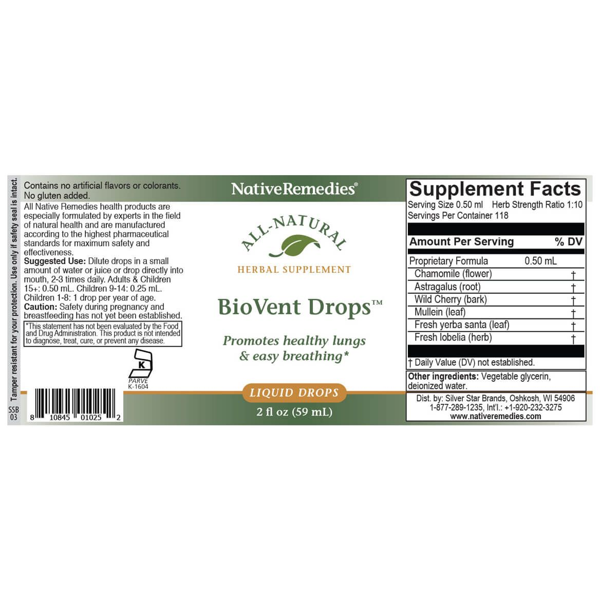 BioVent Drops™ for Easy Breathing-351886