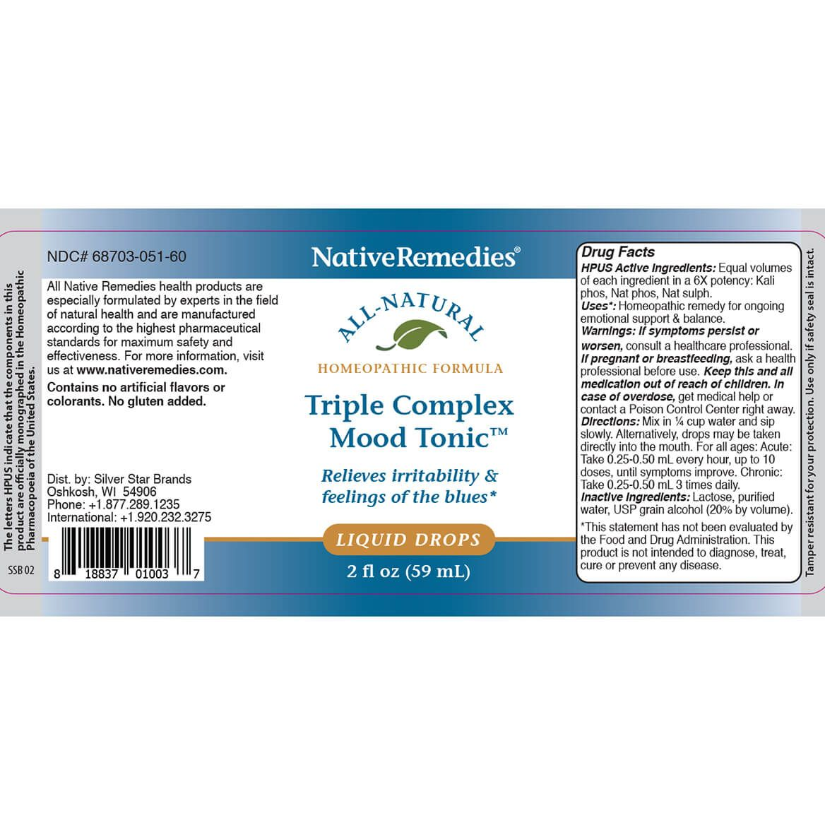 Triple Complex Mood Tonic™ for Balanced Emotions-351887