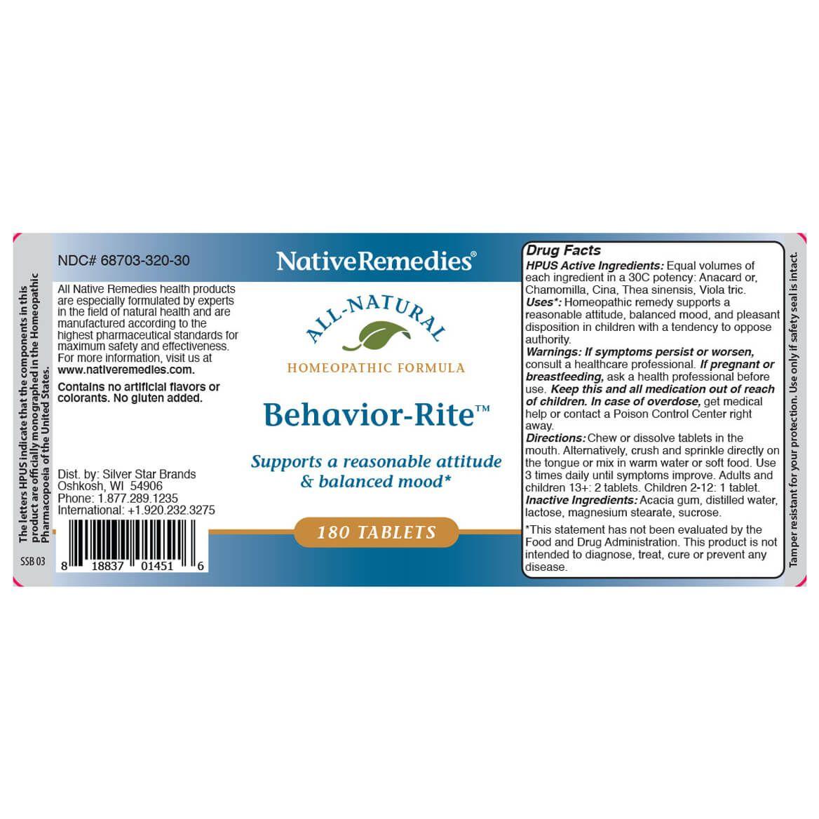 Behavior-Rite™ for Balanced Mood & Temper-367008