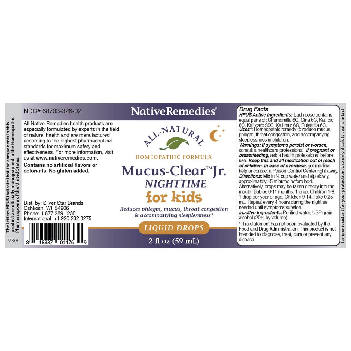 Mucus-Clear™ Jr. Nighttime for Nighttime Phlegm & Congestion in Children and Babies-367998