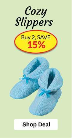 Slippers Promotion - Buy 2, SAVE 15%